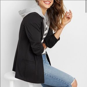 XS Hoodie lined black Blazer Maurices